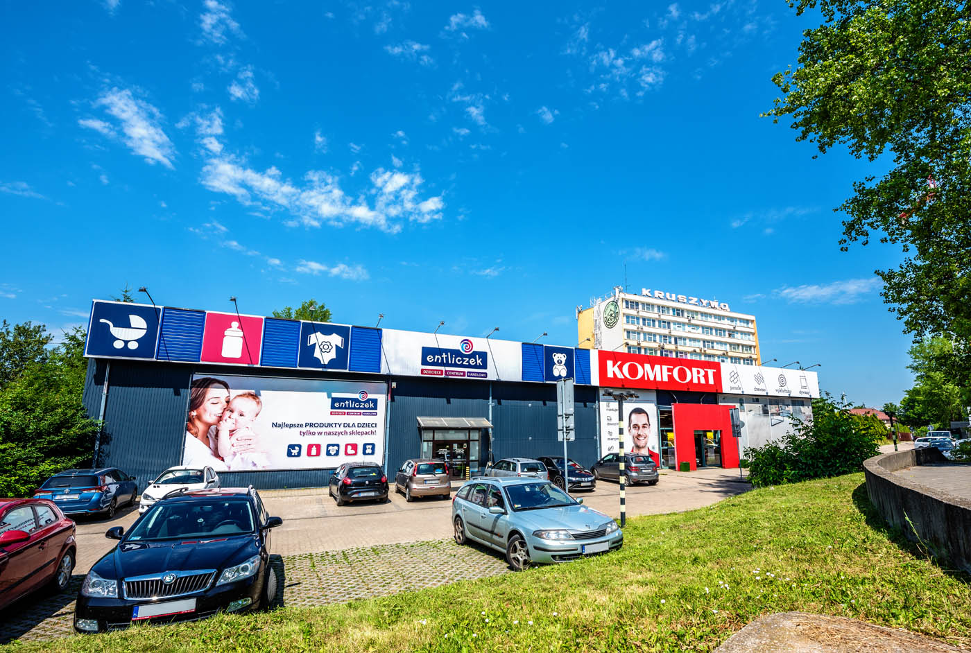 Budynek handlowy KOMFORT, ul. Wadowicka 9, Kraków