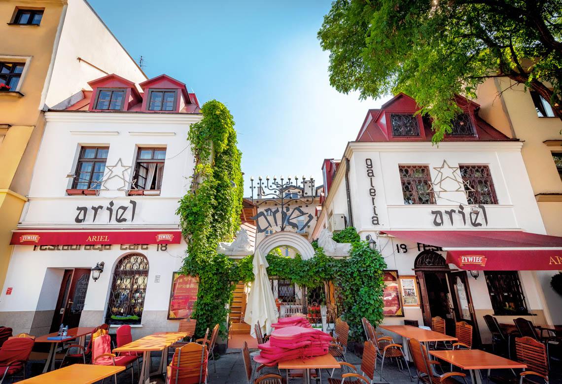 Restauracja Żydowska ARIEL, Kazimierz ul. Szeroka 18 Kraków